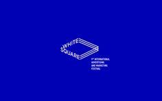 "Identity for the International Advertising and Marketing Festival ""White Square"" in Minsk. Typography Logo, Logo Branding, Branding Design, Lettering, Corporate Design, Marketing Festival, Square Logo, Visual Identity, Brand Identity"