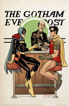The Gotham Evening Post - Norman Rockwell Inspired Batman Art
