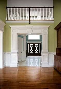 Custom and Stock Mouldings, Horner Millwork trim work Interior Columns, Interior Trim, Door Design, House Design, Moldings And Trim, Moulding, Crown Molding, House Trim, Design Salon
