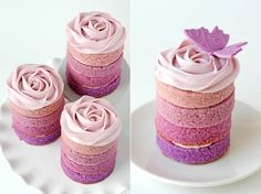cute ombre style mini cakes- Bridal Shower