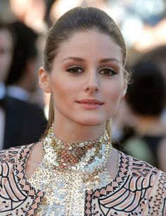 Olivia Palermo, what a statement necklace...