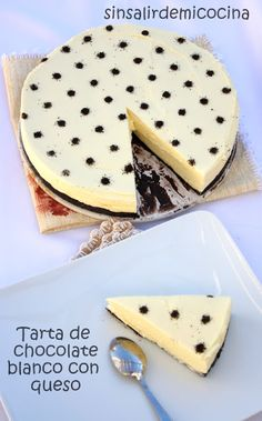 TARTA DE CHOCOLATE BLANCO CON QUESO