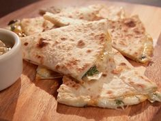 Three Cheese Quesadillas from FoodNetwork.com