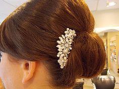 Vintage Inspired Pearls bridal hair combwedding by EverythingBride, $49.00