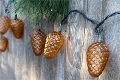 From Cabin Fever Gifts and Decor (cabinfeverdecor.com); Pinecone String Lights, $18.95.
