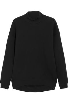 Black cotton-blend jersey Slips on cotton, polyester Machine wash Acne Studios, We Wear, How To Wear, Black Wardrobe, Sweater Design, Frame Denim, Wearing Black, I Dress, High Fashion