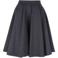 ERMANNO SCERVINO Pleated Skirt (1 235 AUD) ❤ liked on Polyvore featuring skirts, bottoms, saias, faldas, pleated skirt, blue pleated skirt, knee length pleated skirt, pleated a line skirt and blue a line skirt