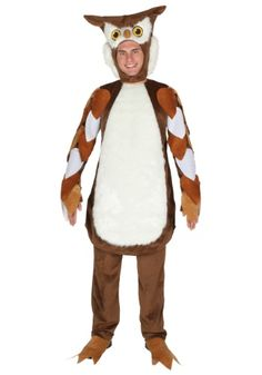 When you go in this Adult Owl Costume, you'll become one of the smartest creatures in the animal kingdom... a human in an owl costume!