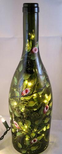 Lighted Wine Bottle