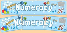 Numeracy Display Banner