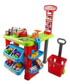 Kids Pretend Play Grocery Store Cash Register Shopping Cart Educationa – Vick's Great Deals Toddler Toys, Baby Toys, Kids Toys, Baby Play, Play Grocery Store, Credit Card Machine, Cool Gifts For Kids, Cash Register, Pretend Play