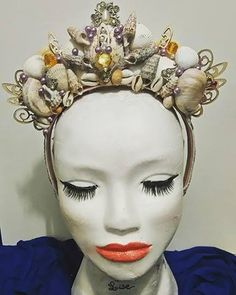 """Coiffe """"Sea Queen"""" 35€ Retrouvez toutes mes créations à vendre sur www.labulledelise04.com I ship in the world!"""