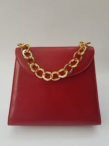 704598441dbb FERRAGAMO Bag. Salvatore Ferragamo Vintage Red Leather Shoulder Handbag .  Italian designer purse.  reddesignerpurse