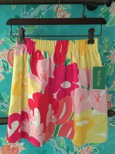 NWT Lilly Pulitzer Skirt LAVISH LILLYS PLACED XS Resort White Rt$98 #LillyPulitzer #ALine