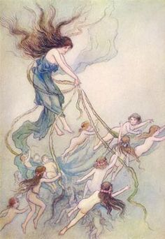 Queen of the Fairies  Illustration by Warwick Goble