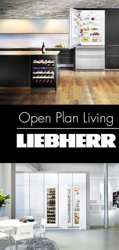 Whether built-in or freestanding, Liebherr appliances are designed to fit into any contemporary kitchen design. With open plan living remaining a popular interior trend, beautiful and quiet fridges, freezers and fridge-freezers are as important as ever. Kitchen Built Ins, Country Kitchen Cabinets, Wine Cabinets, Built In Cabinets, Kitchen Decor, Kitchen Ideas, Refrigerator Cabinet, Built In Refrigerator, Built In Fridge Freezer