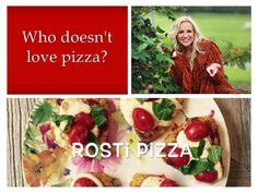 Pizza! Heerlijk, maar past niet goed in je dieet.  Probeer deze gezonde variant: rösti pizza's!  Je maakt ze makkelijk en snel. En ze zijn nog lekker ook! Kijk op mijn YouTube-kanaal voor het recept: https://www.youtube.com/watch?v=uvogwvTdAZo