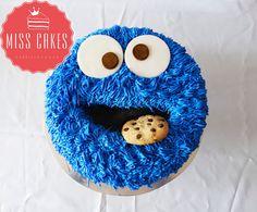 Torta come Galletas , Cookie Monster Cake , Plaza Sesamo.