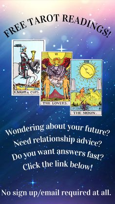 Absolutely FREE Tarot readings, NO nonsense! 110 million free online Tarot card readings delivered to more than million registered visitors since 2002 . Free Love Tarot Reading, Card Reading, Free Reading, Lotus Tarot, Love Tarot Card, Tarot Significado, Free Tarot Cards, Astro Tarot, Online Tarot