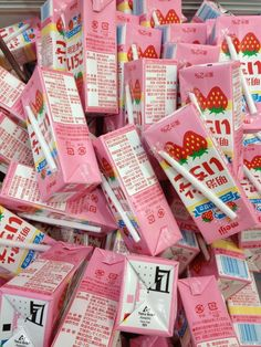 Lazykat ♡ sweets, aesthetic food, pink aesthetic, everything pink, cute pink Aesthetic Japan, Japanese Aesthetic, Aesthetic Food, Aesthetic Pastel, Cute Snacks, Cute Food, Japanese Candy, Japanese Food, Japanese Treats