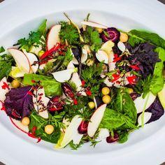 Salat mit Rettich, Chicorée und Äpfeln