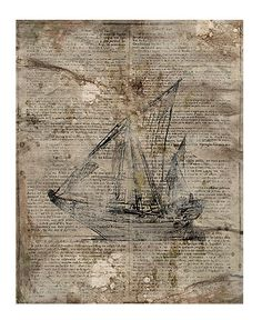 I want to use old newspaper pages to use as a canvas for an old-fashioned sailboat for the travel theme for the guest bedroom!