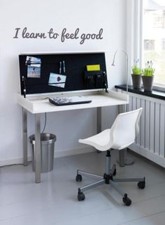 IKEA 2011 catalog is published, here is an article I find very nice to decorate your home. This new office / desk in IKEA will. Ikea Folding Desk, Home Office Design, House Design, Design Desk, Condo Design, Interior Design, Fold Away Desk, Home Photo Studio, Home Office