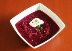 Soupe betterave-orange, crème sure | Cuisiner végé