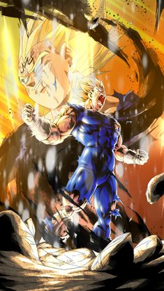 """A great glow was seen in the distance, where the figure of a great warrior had disappeared, his name was Vegeta, prince of the Saiyans. Dragon Ball Z, Dragon Ball Image, Foto Do Goku, Majin, Super Vegeta, Goku Wallpaper, Animes Wallpapers, Akira, Deviantart"