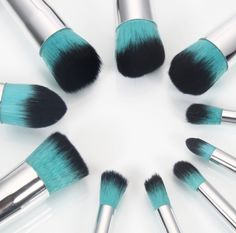 10pcs High-quality Professional Cosmetic Makeup Brushes Set