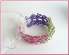 Instant download - ConCathCuff (Cath's Concatinate Cuff) - Beading Pattern - Bracelet - Chain - Dimensional Peyote
