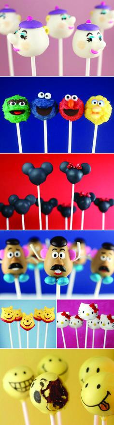 Great ideas-like the Mickey/Minnie, Teapots, and Hello Kitty!