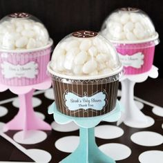 Personalized Baby Shower Cupcake Candy Favor, LOVE these!!