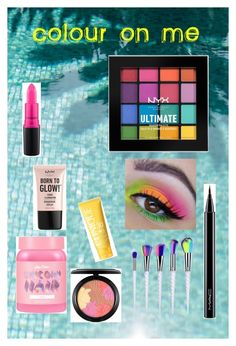 """Colour on me:Colourful Beauty 2k17"" by style-queenxoxo on Polyvore featuring beauty, NYX, MAC Cosmetics, Lime Crime, Clinique, beautiful and colourful"