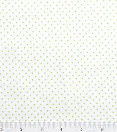 Snuggle Flannel Fabric-White/Green Dot