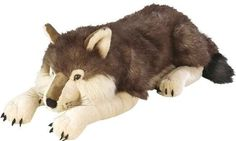 Realistic fur makes this playful plush wolf one of the more lifelike stuffed animals, and its soft cuddly filling keeps this giant plush toy huggable. Wolf Stuffed Animal, Large Stuffed Animals, Realistic Stuffed Animals, Sewing Stuffed Animals, Frozen Disney, Gato Garfield, Wolf Plush, Giant Plush, Giant Teddy Bear
