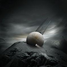 Far from home by on DeviantArt Arte Sci Fi, Sci Fi Art, Fantasy Concept Art, Sci Fi Fantasy, Cosmos, Alien Worlds, Epic Art, Fantasy Landscape, Fantastic Art