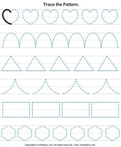 Check out Turtle Diary's large collection of Shapes worksheets for preschool. Make learning fun and easy with these great learning tools. Shape Tracing Worksheets, Shape Worksheets For Preschool, Nursery Worksheets, Preschool Writing, Numbers Preschool, Preschool Learning Activities, Kids Writing, Kindergarten Worksheets, Pre Writing