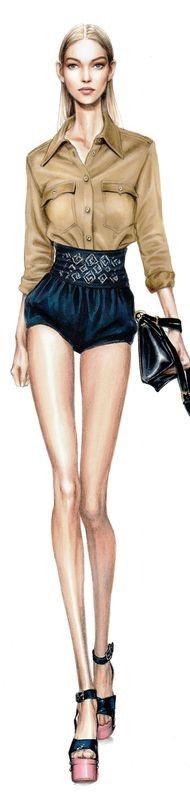 Alessia Zambonin, Istituto Marangoni Fashion Illustration