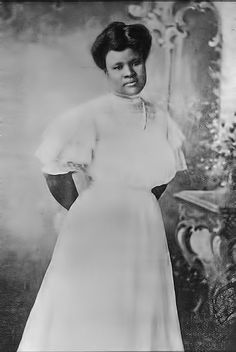 Black hair beauty entrepreneur Madame C.J. Walker (c.1899) and a key player in the Harlem Renaissance Era
