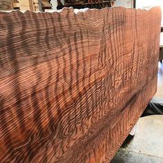 Old growth redwood live edge headboard