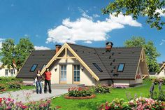 To jednokondygnacyjny, prawie 100- metrowy dom o nietypowej architekturze przykryty dachem o wzajemnie przenikających się płaszczyznach.