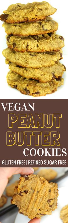 Classic Vegan Peanut Butter Cookies | Gluten Free | Dairy Free | Refined Sugar Free *make with almond or coconut flour