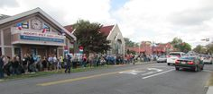 The line at Ridgewood Veterinary Hospital's 7th Adopt-A-Pet Day.