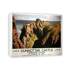 click to view Dunnottar Castle Stonehaven Station LNER LMS