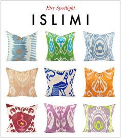 Etsy shop Islimi - a go-to destination for inexpensive pillow covers
