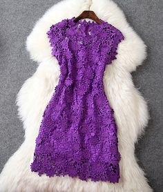 Lace Dress in Purple