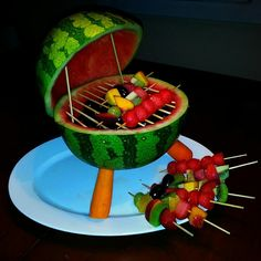 Watermelon barbecue