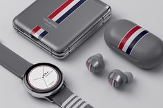 Along with its second smartphone with a folding display, Samsung has unveiled the Galaxy Z Flip Thom Browne Edition. Flip Phones, New Phones, Thom Browne, Smartphone, Grey Exterior, New Samsung Galaxy, Leather Phone Case, Leather Cover, Flipping