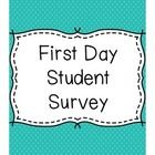 This is a simple student survey that can be used in a middle or high school classroom on the first day of school. The document asks  for student in...